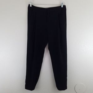 VINCE Black Tapered Silouette Trouser Pants A9. In